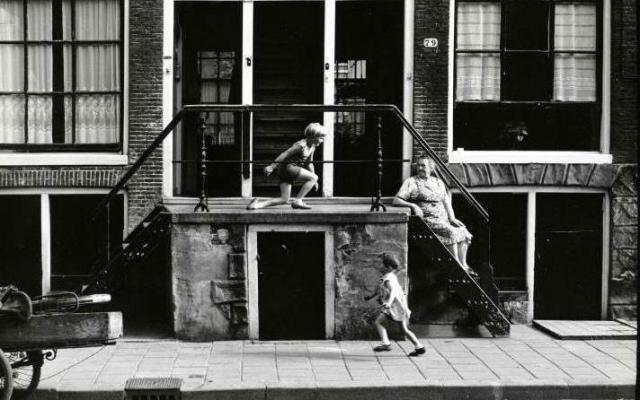 Kinderen spelen trap